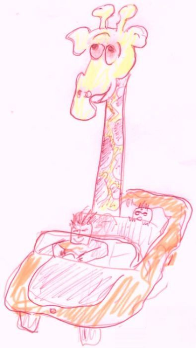 Janine the Giraffe by Phil Burns