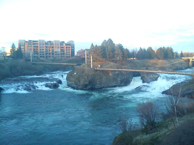 Foot Bridge over Spokane Falls