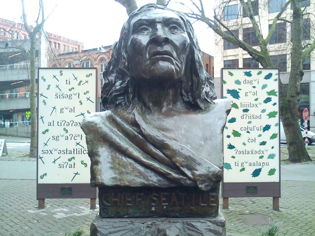 Chief Seattle, Pioneer Square, Seattle, WA