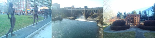 Street Art, the Spokane Falls, and an Area of Tranquillity, Riverfront Park, Spokane. WA