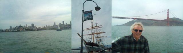 San Francisco skyline, Glasgow-built Balclutha, windswept Elephant
