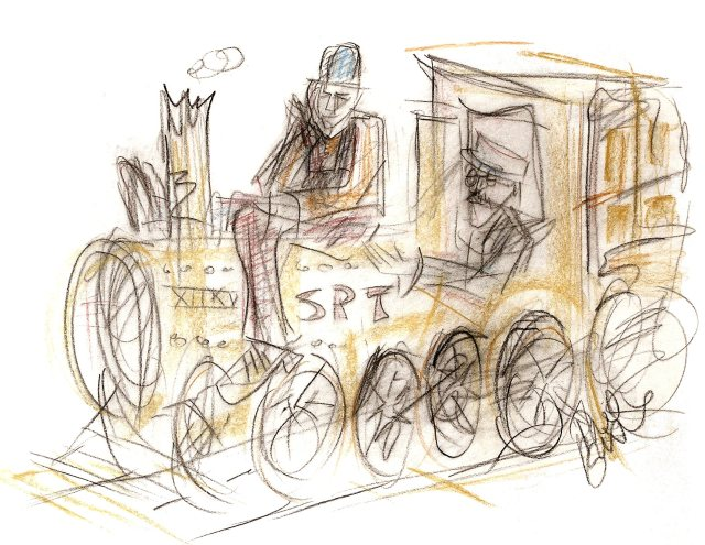 The Train, an illustration by Phil Burns