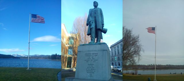 Coeur d'Alene, Idaho - Abraham Lincoln in Spokane, Washington - the Columbia River