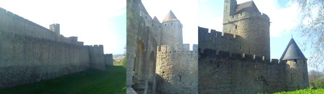 The outer fortifications of Carcassonne, Aude