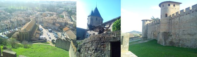 Views from and of the walled city of Carcassonne