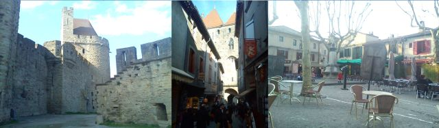 Inside the walled city of Carcassonne, Aude
