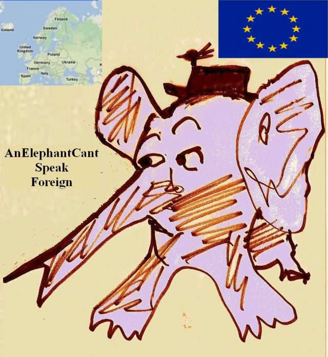 The Rare European Elephant by Phil Burns