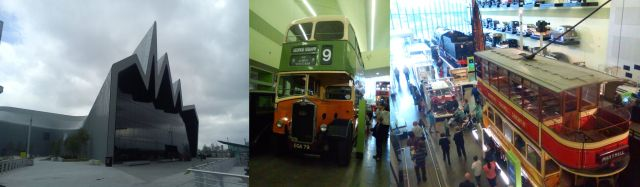 The Riverside Museum, Glasgow, exterior and interior views