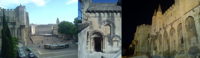 Avignon - The Palais des Papes and the Chapel of St Benezet on Le Pont
