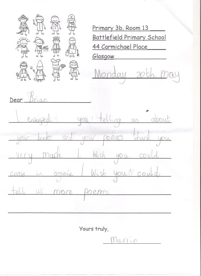 Letter from a 7 year old