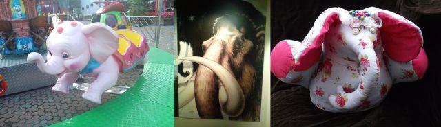 AnElephant in Milan, Italy, Asolo, Italy and Caren's Doorstop Dumpy