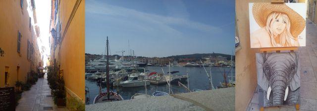 St Tropez - Back Street, Harbour, AnElephant and Brigitte Bardot