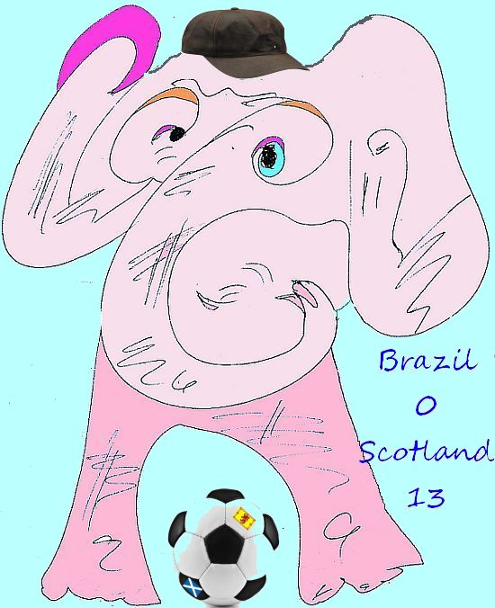 Soccer Elephant by Phil Burns