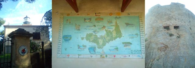 Porquerolles - Le Phare, Map of the island by local school children, Fort St Agathe (1531)