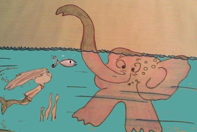 Underwater by Emma, friend of AnElephant