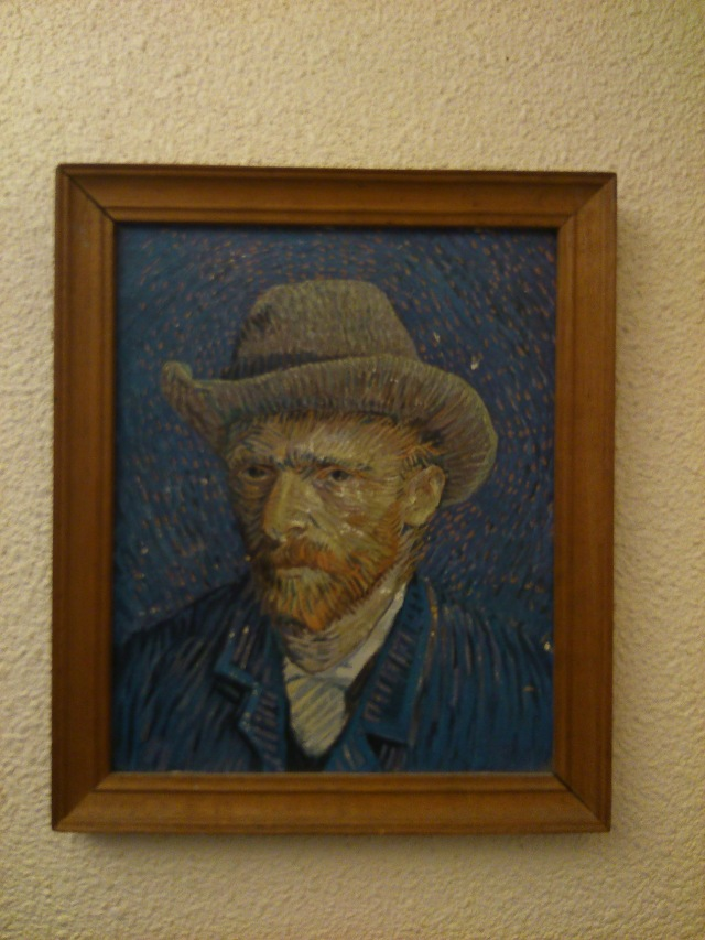 Self Portrait in a Felt Hat by Vincent van Gogh